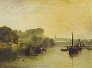 'Petworth, Sussex, the Seat of the Earl of Egremont: Dewy Morning' by J.M.W. Turner, 1810