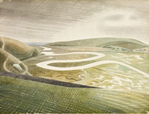 'Cuckmere Haven', by Eric Ravilious, 1939